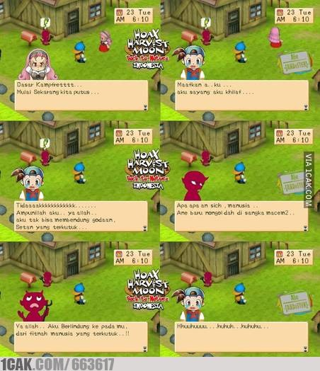 Harvest Moon Back To Nature Indonesian Version 1cak For Fun Only
